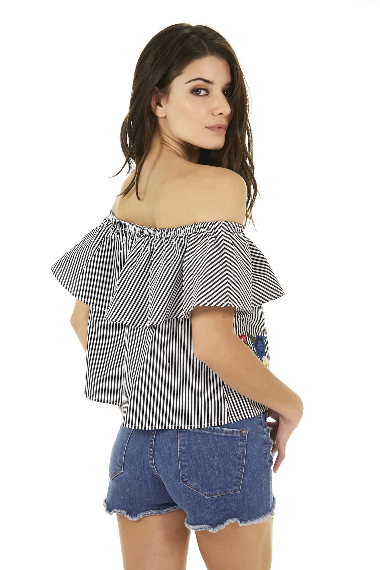 TOP OFF SHOULDER BORDADO